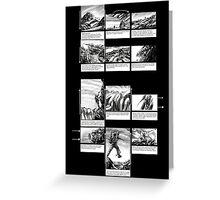 Mountain Odyssey (storyboard) Greeting Card