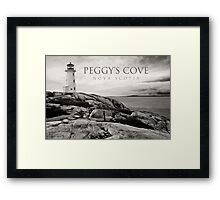 Lighthouse on Peggy's Cove Framed Print