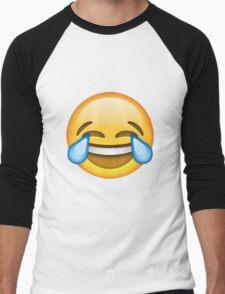 Crying with laughter emoji Men's Baseball ¾ T-Shirt