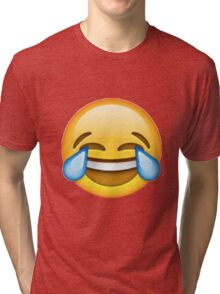 Crying with laughter emoji Tri-blend T-Shirt