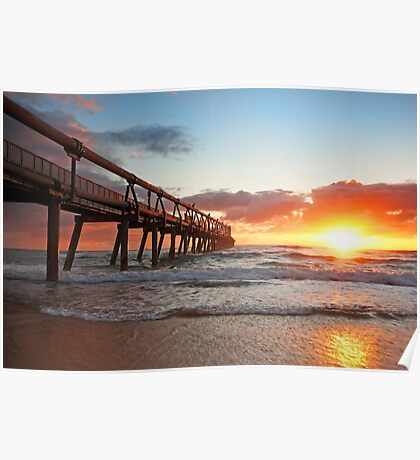Dawn on the Spit - Gold Coast Qld Poster