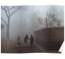 choleche dik-sunno-pur - misty morning Poster