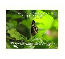You are a Challenge Winner in Natures Paintbrush Group Art Print