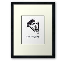 Hawking - I am Everything Framed Print