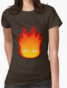 Calcifer! Howls moving castle. Womens Fitted T-Shirt