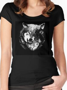 Two Headed Wolf Women's Fitted Scoop T-Shirt