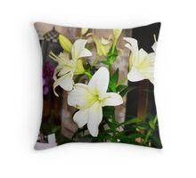 Floral display Throw Pillow