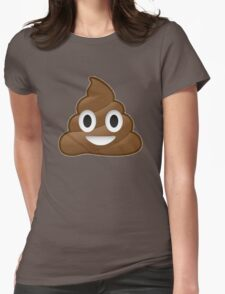Poop Emoji Womens Fitted T-Shirt