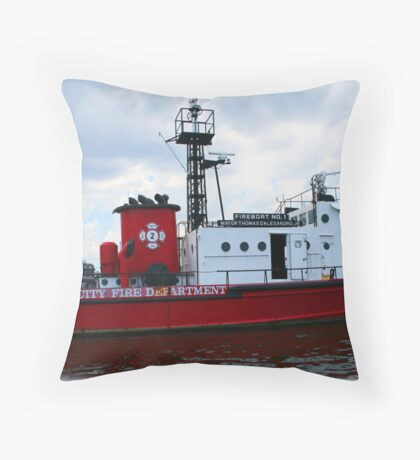 BFD Tugboat Throw Pillow