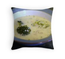 Broccoli Soup Throw Pillow