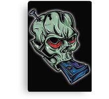 Skull & Cassette Canvas Print