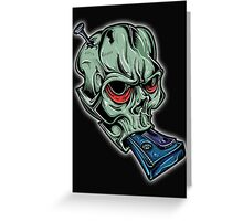 Skull & Cassette Greeting Card