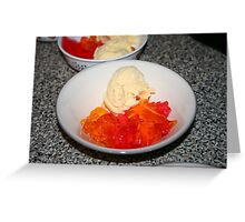 Jello and Ice-Cream Greeting Card