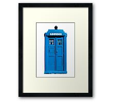 Traditional UK Police Box Framed Print