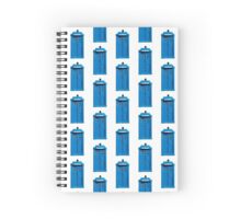 Traditional UK Police Box Spiral Notebook