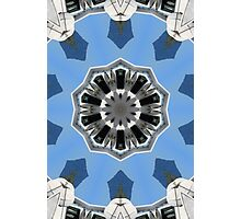 Blue and white abstract Photographic Print