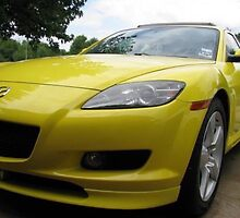 '04 Yellow GT Mazda RX8 by JensCreations