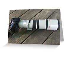 Great Big New Lens Greeting Card