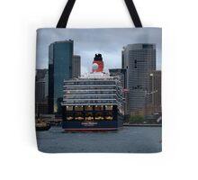 Queen Elizabeth Entering Circular Quay  Tote Bag