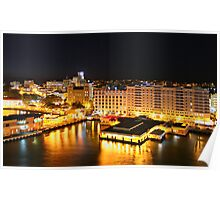 Night Time, San Juan, Puerto Rico Poster