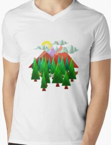 Abstract Landscape Mens V-Neck T-Shirt