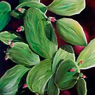 """""""Nopal"""" - oil painting of a Mexican cactus by James  Knowles"""