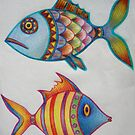 Sketchbook - Fishes (from the imagination) by Thea T