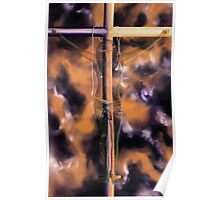 """I God"" - expressionistic oil painting of Jesus on the cross Poster"