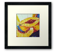 Sliced Peach Framed Print