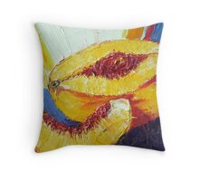 Sliced Peach Throw Pillow