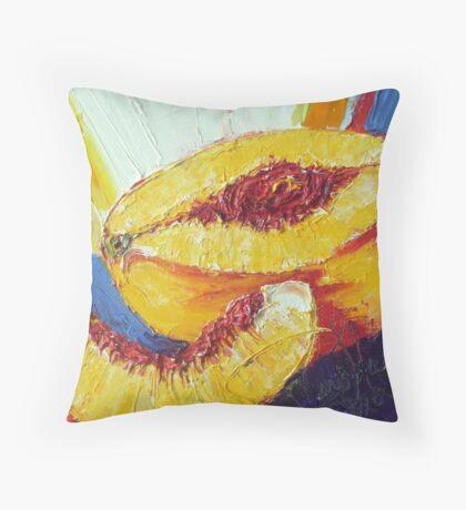 Sliced Peach Throw Pillow