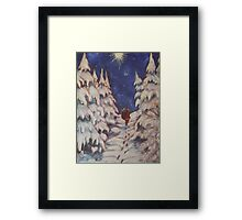 Santa's Trek Framed Print