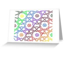 Rainbow Squares Greeting Card