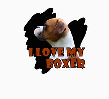 I Love My Boxer 2 Womens Fitted T-Shirt