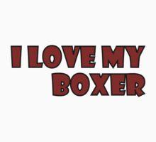 I Love My Boxer Sticker by Vanessa Barklay