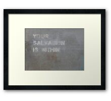 Beneath The Surface of Guidance  Framed Print