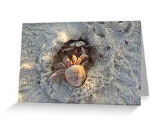 having fun  on the beach Greeting Card