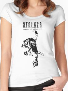 Stalker SOC Black Women's Fitted Scoop T-Shirt