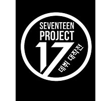 Seventeen Project, White Text Photographic Print
