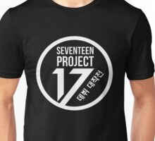 Seventeen Project, White Text Unisex T-Shirt