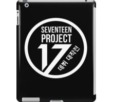 Seventeen Project, White Text iPad Case/Skin