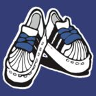 MY ADIDAS: BLUE FAT LACES by SOL  SKETCHES™