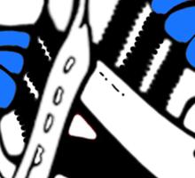 MY ADIDAS: BLUE FAT LACES Sticker