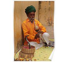 Snake charmer, Amber, Jaipur Poster