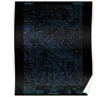 USGS Topo Map Oregon Brady Creek 279116 1990 24000 Inverted Poster