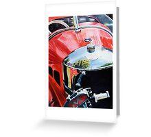 """""""Morgan"""" - oil painting of a Morgan car Greeting Card"""