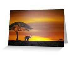 Lonley Elephant Greeting Card