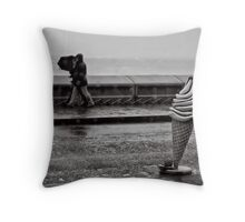 To stroll along the prom prom prom Throw Pillow