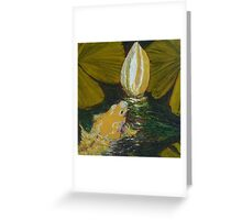 Golden Koi and Lilly Pond Greeting Card