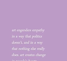 art creates change // lin-manuel miranda by agentsromanoff